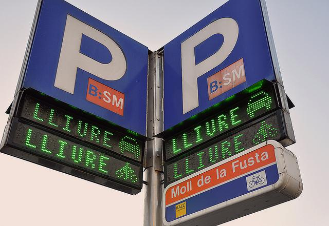 gratis parkeren in Barcelona