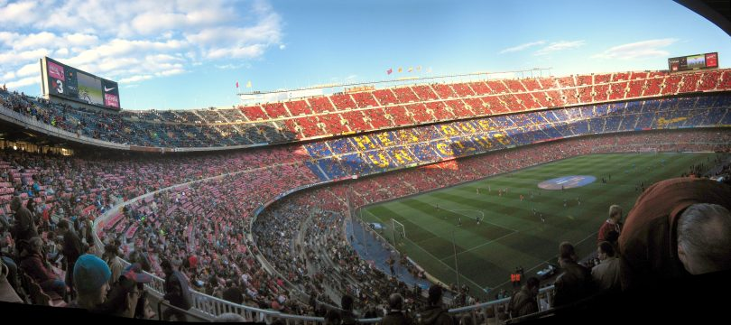 camp nou in les corts, barcelona