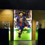 foto van voetballer in FC Barcelona museum