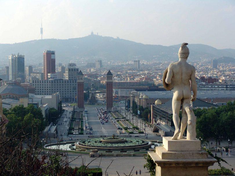 uitzicht over placa espanya in barcelona