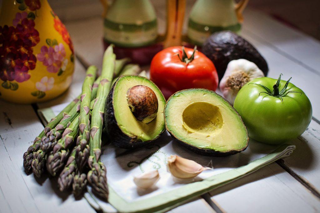 groente op tafel