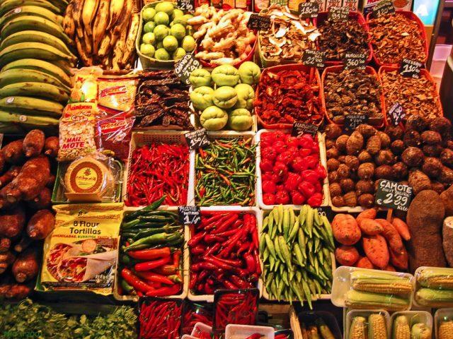 kruiden op de markt van la boqueria