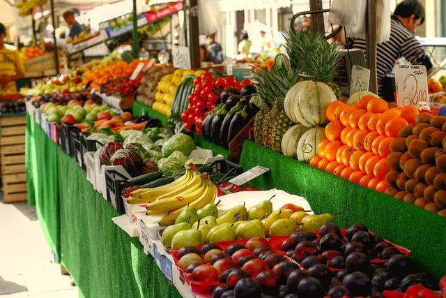 fruitmarkt in barcelona