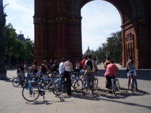 fietstour bij arc de triomf barcelona