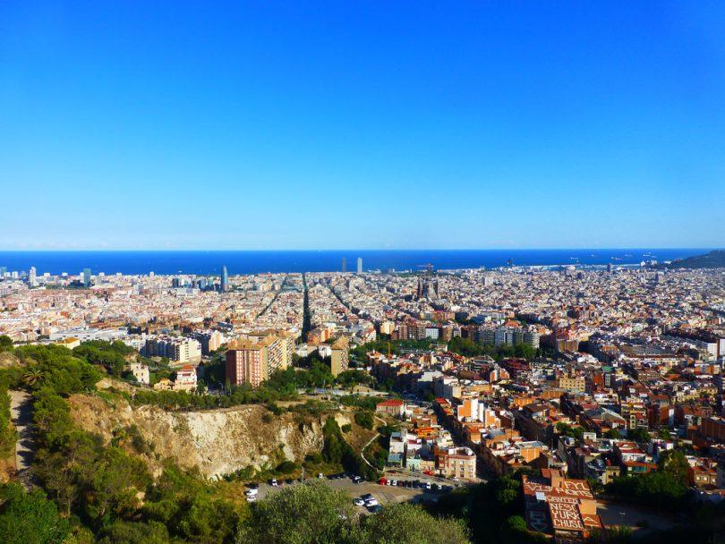 uitzicht over barcelona bij dag