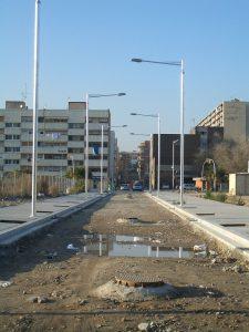 wijk ondergaat renovatie in barcelona