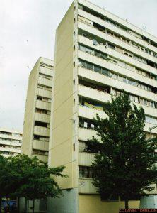 oude flatgebouwen in Barcelona
