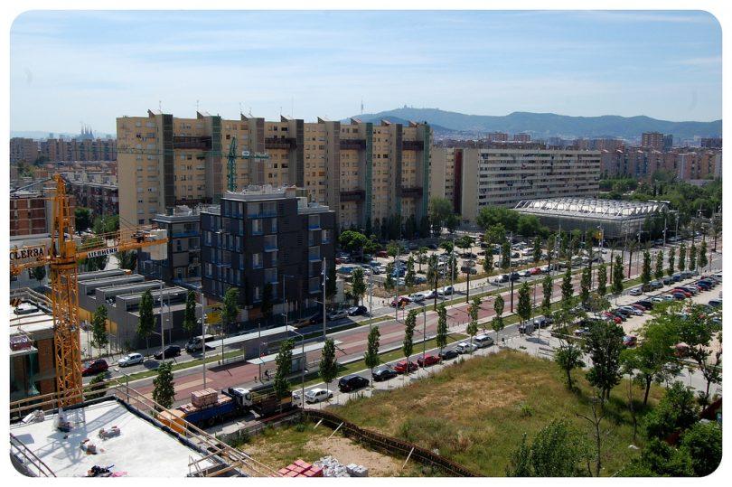 wijk in transformatie in Barcelona