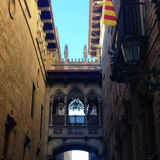 One of the most famous passageways in Barcelona Pont delhellip