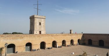 bovenop kasteel Montjuic