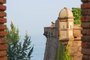 uitzicht vanaf kasteel montjuic