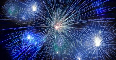blauw vuurwerk