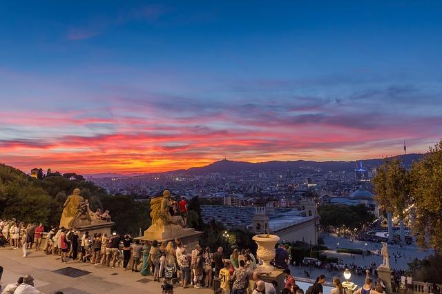 zonsondergang barcelona