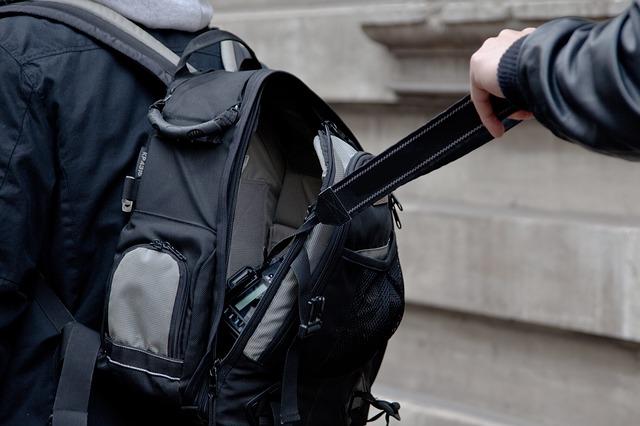 camera uit tas gestolen