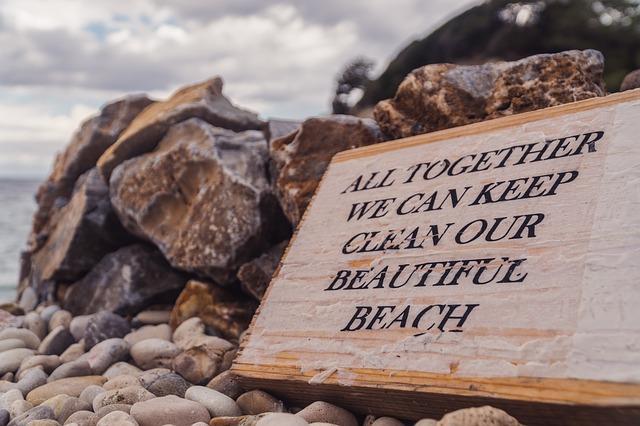 bord strand opruimen
