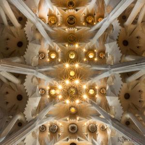 dak aan binnenkant van sagrada familia