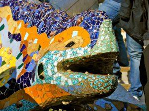 mozaiek kunst van gaudi
