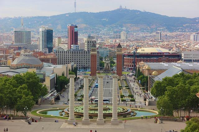 montjuic fontein in barcelona