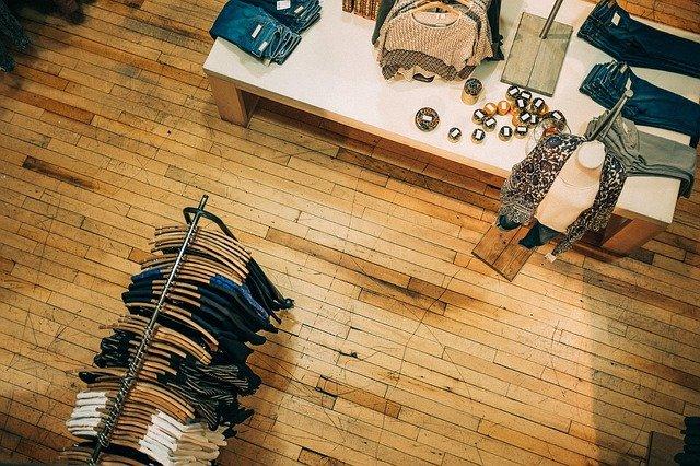 kledingwinkel van boven