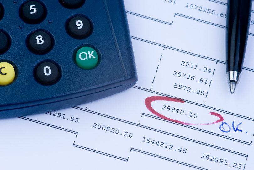rekenmachine met banksaldo