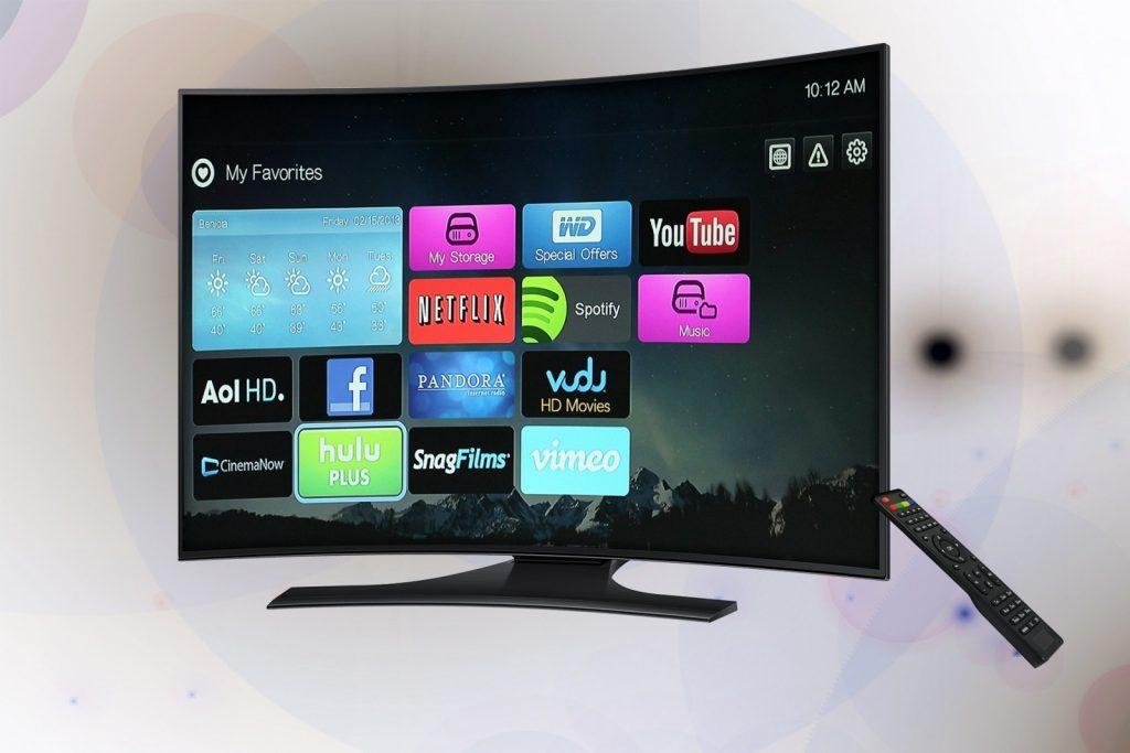 tv met beeld van applicaties