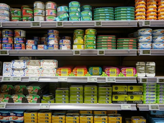 visschap in supermarkt