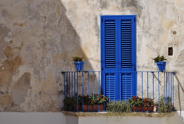 balkon met planten