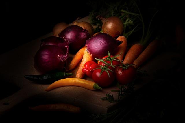 groente in het donker