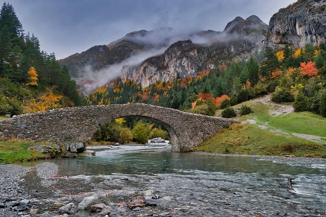 herfst in pyreneen