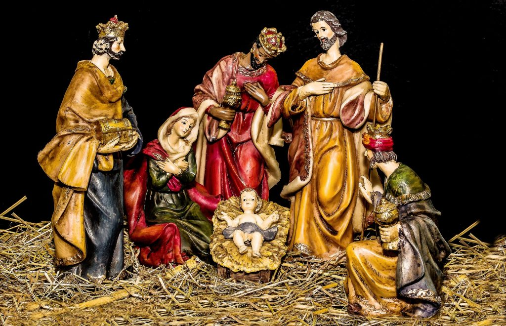 driekoningen rond kindje jezus