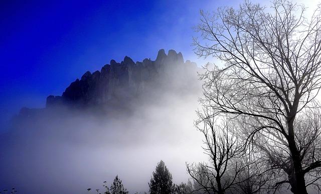 mist bij montserrat