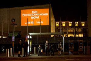 reclame voor geweld tegen vrouwen