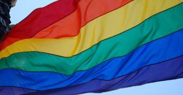 regenboogvlag die wappert