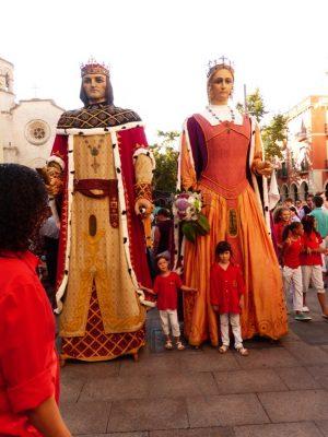 reuzen tijdens fiesta mayor