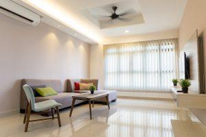 woonkamer modern en licht appartement