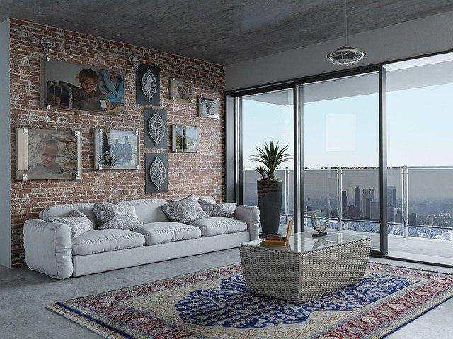 woonkamer met balkon