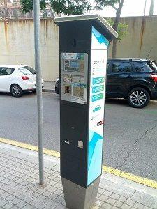 parkeerautomaat barcelona
