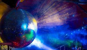 discobal met rook en diverse kleuren