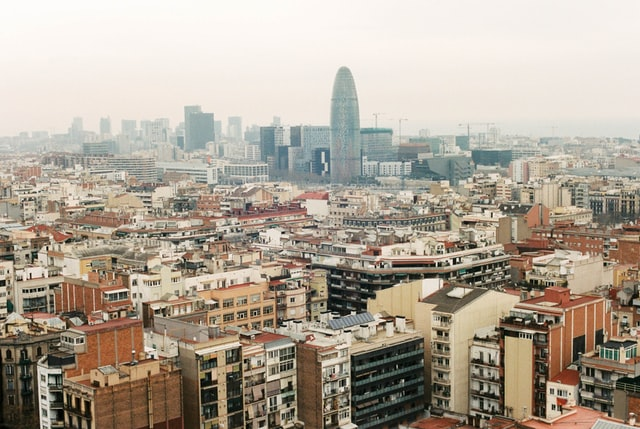 uitzicht barcelona - torre glories