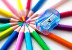kleurpotloden en puntenslijper