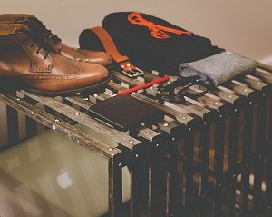 vintage schoenen, kleding en bril