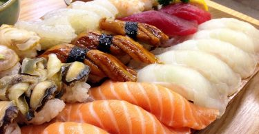 diverse soorten sushi
