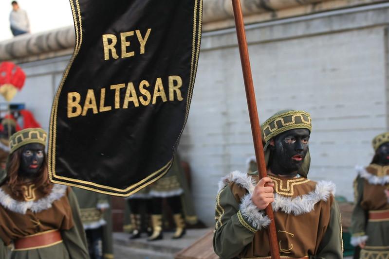vlag met daarop de woorden: rey baltasar