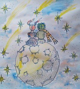 tekening de kleine prins