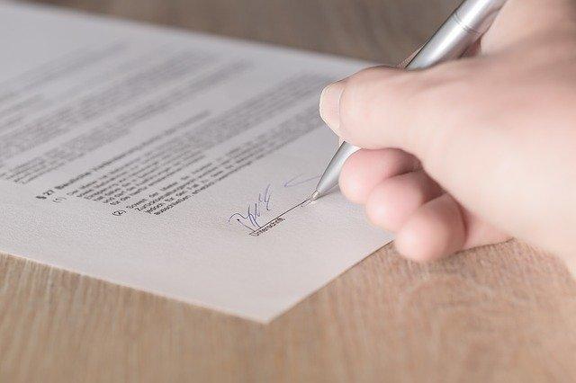 handtekening zetten