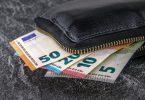 portemonnee met euros