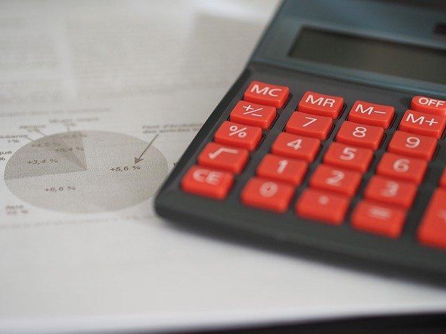 calculator en papieren