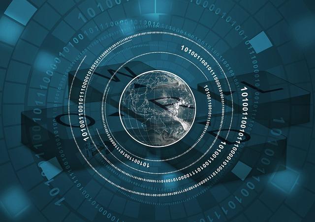 digitale weergave wereld