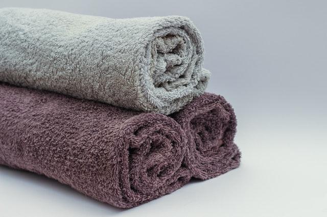 3 opgerolde handdoeken