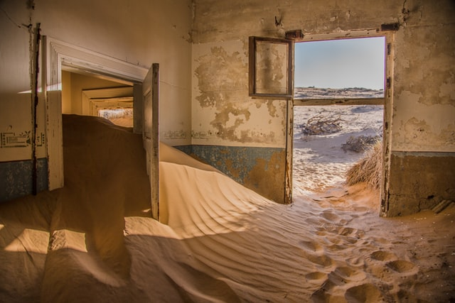 zand in je huis